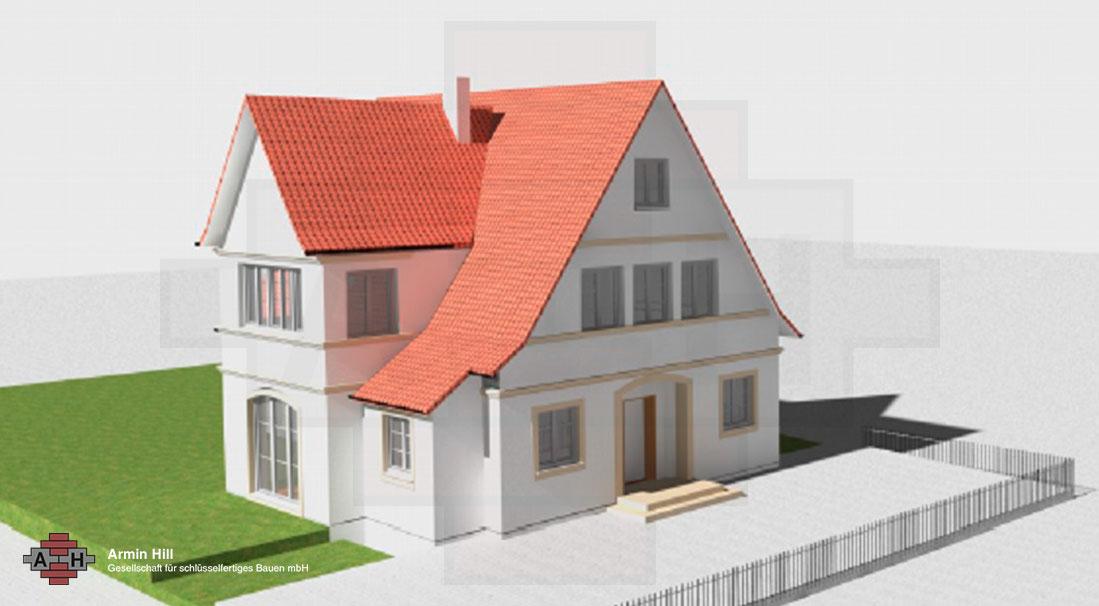 mainz weisenau einfamilienhaus hill bauunternehmen. Black Bedroom Furniture Sets. Home Design Ideas