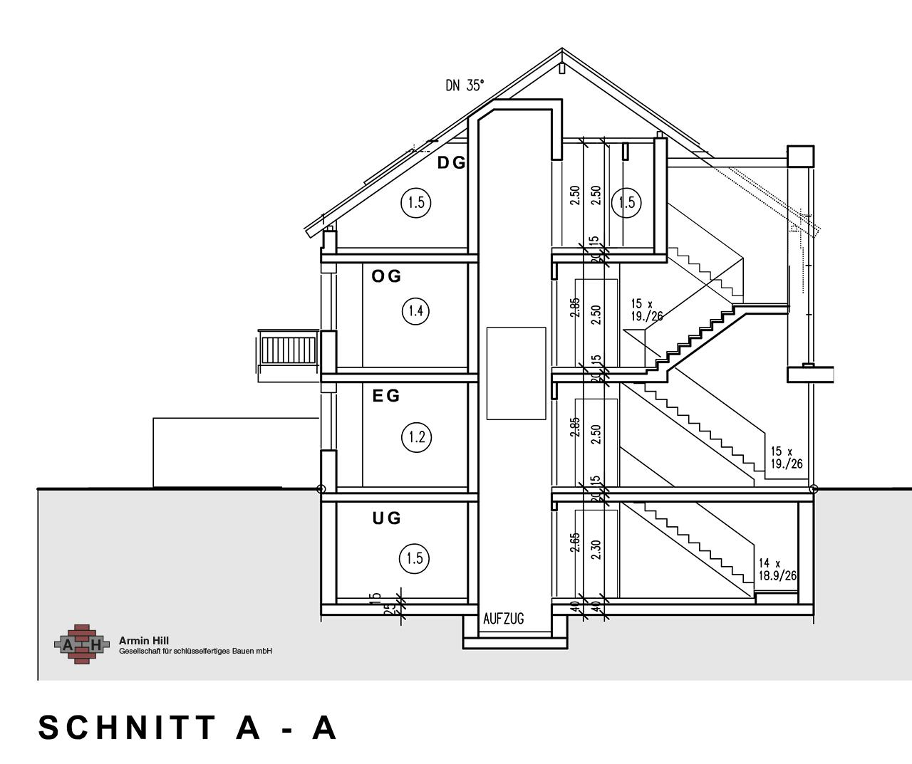 wohnung 1 5 ober olm 3 zimmer 129 qm hill bauunternehmen. Black Bedroom Furniture Sets. Home Design Ideas